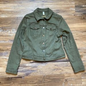 Lole- Green button down stretch jacket